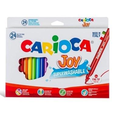 Carioca Carioca Joy Süper Yıkanabilir Keçeli Boya Kalemi Renkli